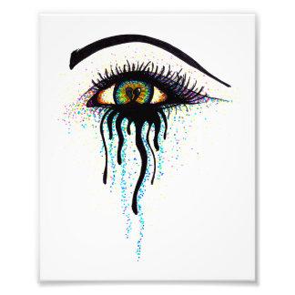 Crying Eye Art Photo