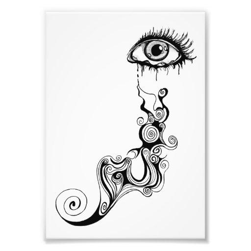 Crying Eye - Swirls Photo Art