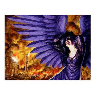 Crying Gothic Angel Postcard