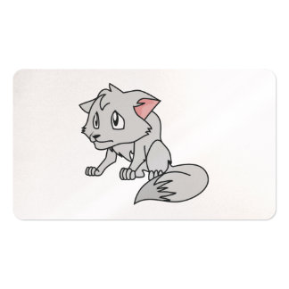 Crying Gray Young Wolf Pup Invitation Stamps Pack Of Standard Business Cards