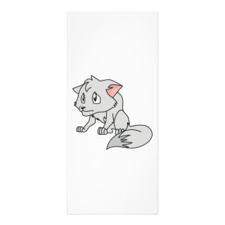 Crying Gray Young Wolf Pup Invitation Stamps Rack Card Design