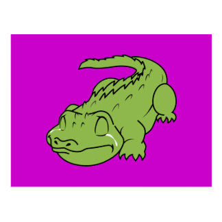Crying Green Crocodile Tears Invitation Stamps Postcard