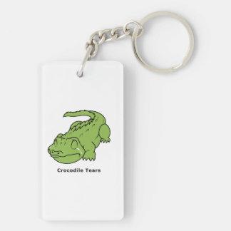 Crying Green Crocodile Tears Sticker Mug Bag Pins Rectangular Acrylic Keychains