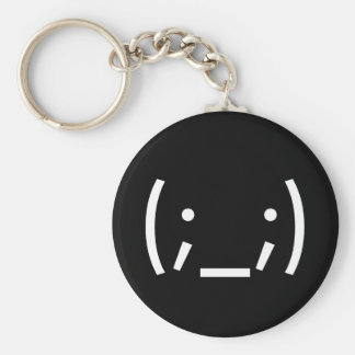 Crying (Japanese Smiley) Basic Round Button Key Ring