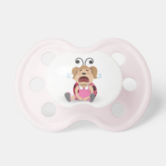 Crying ladybug pink girl dummy pacifiers