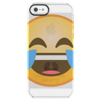 Crying Laughing Emoji Clear iPhone SE/5/5s Case