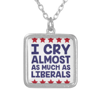 Crying Liberals Silver Plated Necklace