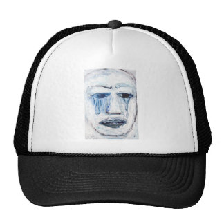 Crying Man (face portrait expressionism ) Hats