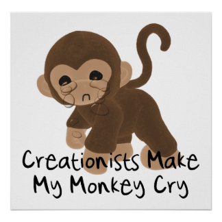 Crying Monkey Poster