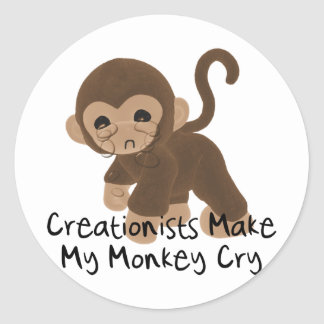 Crying Monkey Stickers