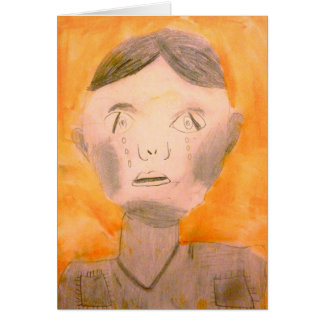 """""""CRYING SOLDIER"""" GREETING CARD BY DYLAN RICE"""