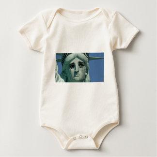 Crying Statue of Liberty Baby Bodysuit