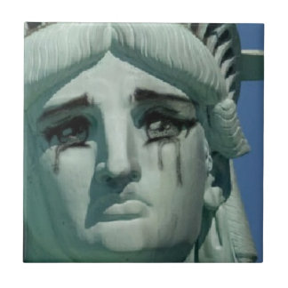 Crying Statue of Liberty Ceramic Tile