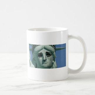 Crying Statue of Liberty Coffee Mug