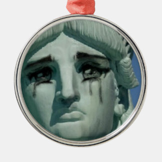 Crying Statue of Liberty Metal Ornament