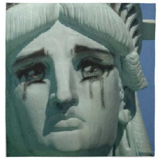 Crying Statue of Liberty Napkin
