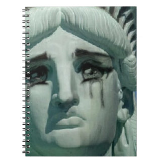 Crying Statue of Liberty Notebook