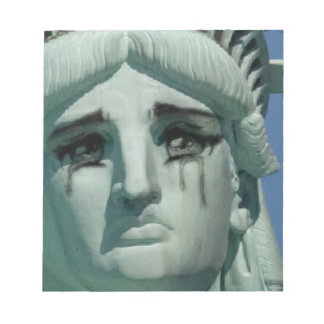 Crying Statue of Liberty Notepad