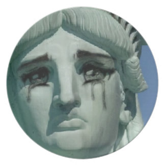 Crying Statue of Liberty Plate