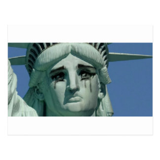 Crying Statue of Liberty Postcard