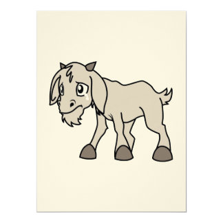 Crying Weeping Grey Young Goat Kid Animal Rights D Personalized Invite