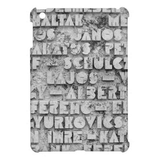 Cryptic Stone Font Case For The iPad Mini