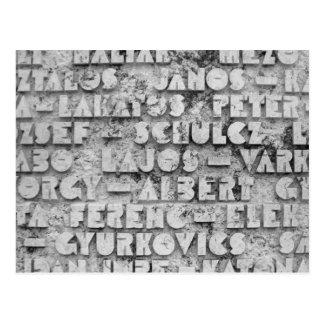 Cryptic Stone Font Postcard