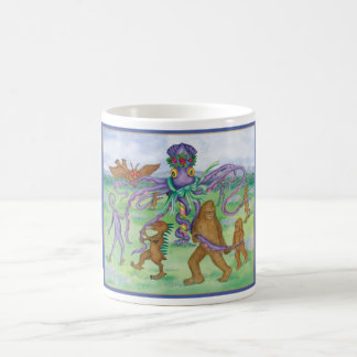 Cryptids and Aliens Celebrate May Day Mug