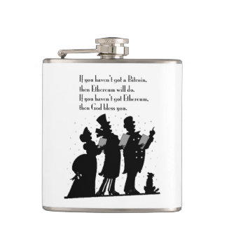 Crypto Christmas Carol Hip Flask