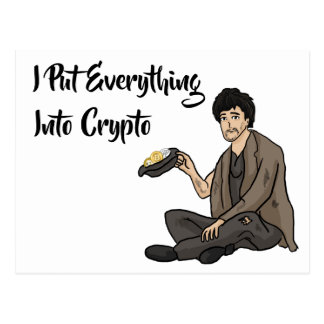 Crypto Currency Cautionary Tale Postcard