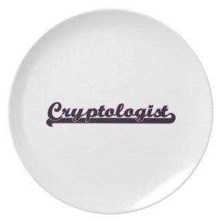 Cryptologist Classic Job Design Dinner Plates