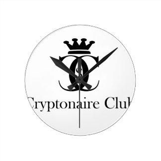 Cryptonaire Club Round Clock