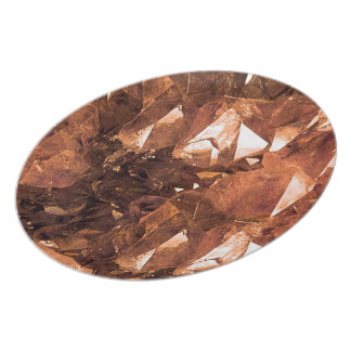 Crystal Amber Plate