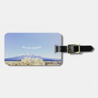 Crystal and pure sky luggage tag