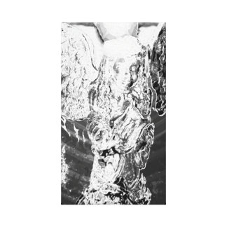 Crystal Angel in Black and White Canvas Prints
