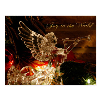 crystal angel  Joy to the World Postcard