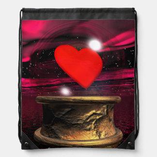 Crystal ball for love - 3D render Drawstring Bag