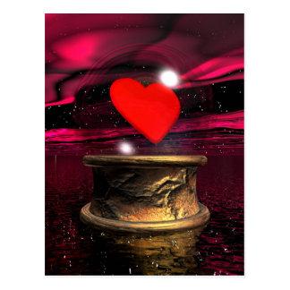 Crystal ball for love - 3D render Postcard