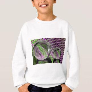 Crystal ball in plastic sweatshirt