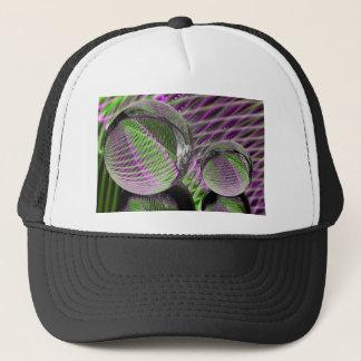 Crystal ball in plastic trucker hat