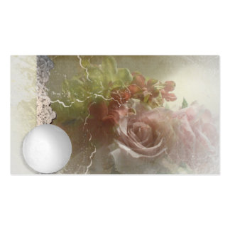Crystal Ball Rose Vintage Spiritual Business Cards