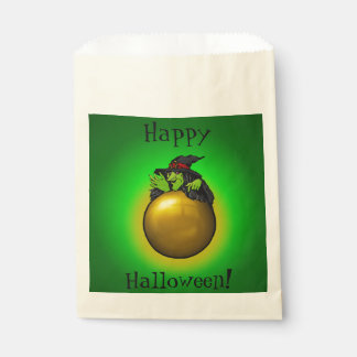 Crystal Ball Witch Green Gradient Favour Bags