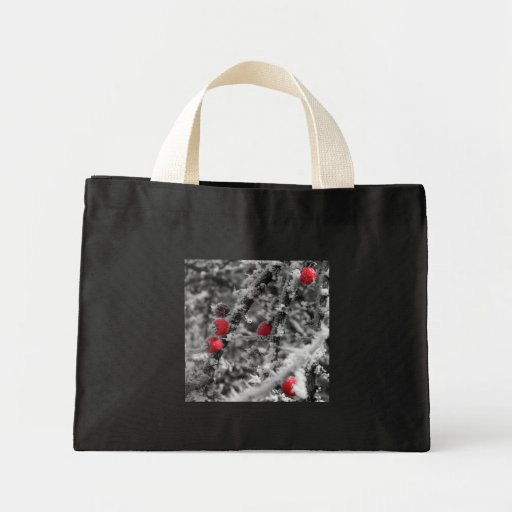 Crystal Berries Small tote Bags