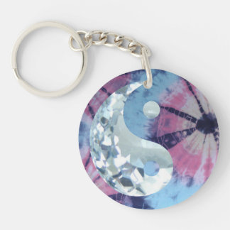 Crystal Blue Persuasion Yin and Yang Key Ring