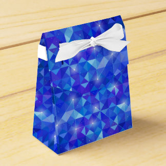 Crystal Blue polygonal constellation Favour Box