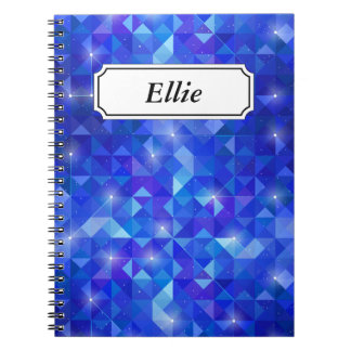 Crystal Blue polygonal constellation Notebooks