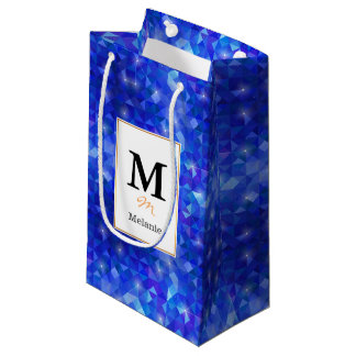 Crystal Blue polygonal constellation Small Gift Bag