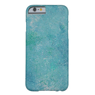 Crystal Blue Sky Aqua Abstract Art iPhone 6 case Barely There iPhone 6 Case
