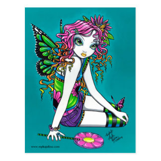 Crystal Candy Rainbow Fairy Postcard