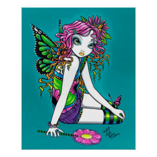 Crystal Candy Rainbow Fairy Poster